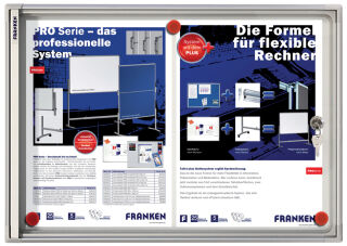 Vitrine d'affichage intérieur X-tra!Line (2xA4) - Franken