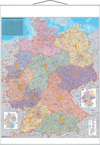 Franken carte de num ro de zone postale lamin e 970 for Buro allemand