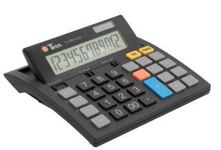 TWEN Calculatrice de bureau J-1200 solar, 12 carac.
