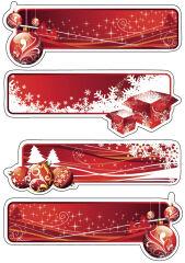 Sticker pour cadeau de Noël DECOR 'symboles de Noël' - HERMA