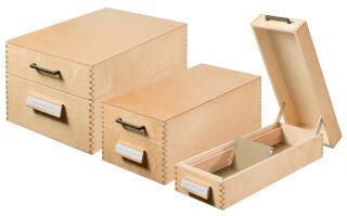 HAN Boîte à fiches en bois pour 900 fiches, A7 paysage
