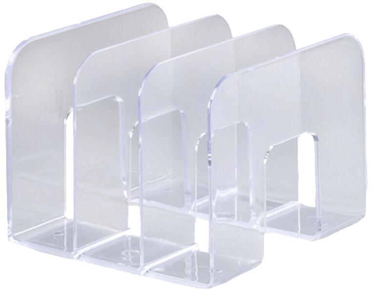 durable porte revues trend plastique 3 compartiments gris achat vente durable 9395050. Black Bedroom Furniture Sets. Home Design Ideas