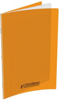 Cahier Orange - 24x32cm - Grands Carreaux - 96 pages
