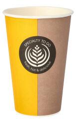 PAPSTAR Gobelet pour café en papier dur 'Coffee To Go',0,3 l