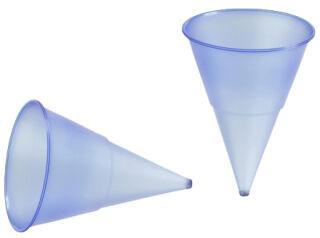 PAPSTAR Gobelet conique en plastique, bleu transparent