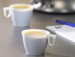 STARPAK Tasse de café en plastique, avec poignée, blanc