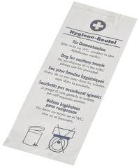 PAPSTAR Sacs hygiéniques en papier, imprimé, blanc