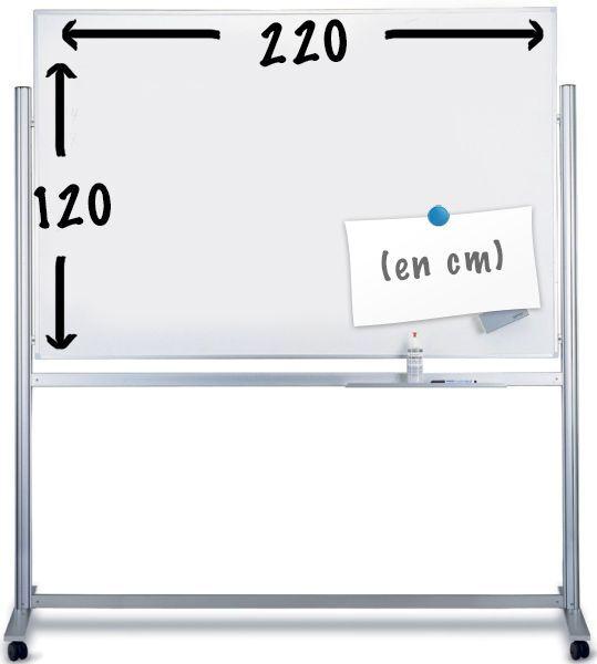 tableau blanc mobile magn tique 220x120cm cadre en aluminium anodis achat vente magnetoplan. Black Bedroom Furniture Sets. Home Design Ideas
