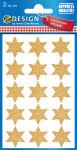 AVERY Zweckform Sticker de Noel ZDesign 'etoile', or