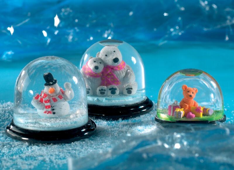 Fimo boule de neige ronde diam tre 90 mm hauteur 75 - Boule de neige photo pas cher ...