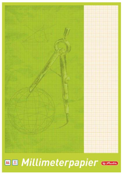 Herlitz bloc de papier millim tr a3 80 g m2 40 feuilles for Papeterie buro plus