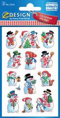 AVERY Zweckform ZDesign Stickers de Noël, bonhommes de neige