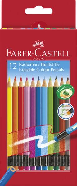 faber castell crayons couleur effacables tui carton de. Black Bedroom Furniture Sets. Home Design Ideas