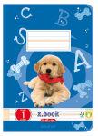 herlitz Cahier scolaire x.book, format A5, linéature 1 /