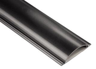 hama Passe-câble, semi-rond, autocollant, 1,0 m, noir