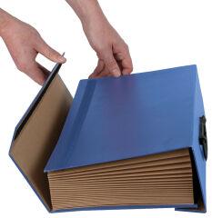 Trieur accordéon Handilife BANKERS BOX, bleu - Fellowes