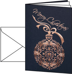 Carte de Noël 'Noblesse', A6 (A5) - sigel