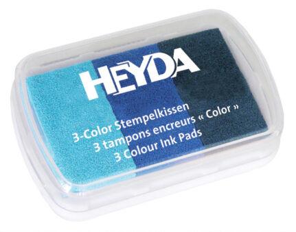 HEYDA Tampons encreurs '3-Color', rose / bleu ciel / lilas