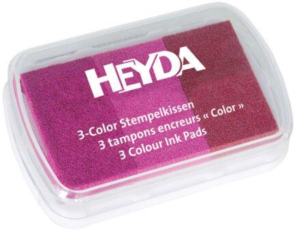 HEYDA Tampons encreurs '3-Color', or / argent / cuivre