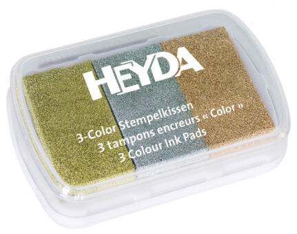 HEYDA Tampons encreurs '3-Color' assortiment de vert
