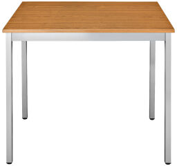 SODEMATUB Table universelle 76RMA, 700 x 600, merisier/alu