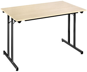SODEMATUB Table pliante TPMU128EN, 1.200 x 800 mm, érable/