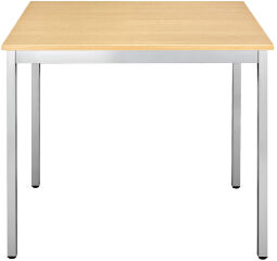 SODEMATUB Table universelle 188RHA, 1800 x 800, hêtre/alu