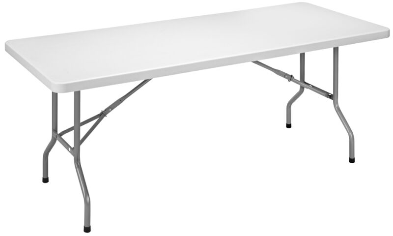 Sodematub table pliante ycz 183 en plastique gris clair for Grande table pliante ikea