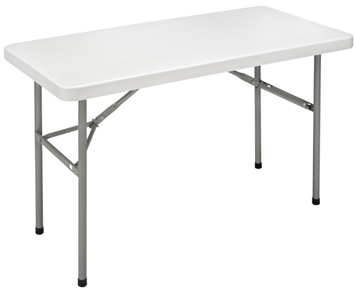 Sodematub table pliante ycz 122 en plastique gris clair for Table pliante exterieur professionnel