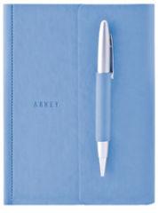 """Bloc-notes """"FLAVIN"""", 125 x 167 mm, bleu, ligné"""