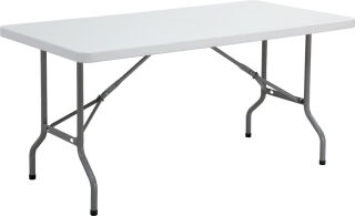 SODEMATUB Table pliante YCZ-152 en plastique, gris clair