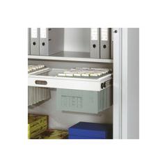 Cadre de suspension pour armoire à rideaux, 1.200 x 400, gris clair (RAL 7035)