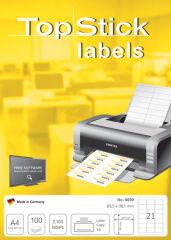 Étiquettes universelle (x200), 210 x 148 mm, blanc - TOP STICK