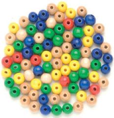 Perles en bois, Diamètre: 8 mm, mélange de violet