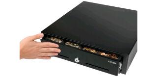 Garniture de tiroir-caisse '3540T', noir - Safescan