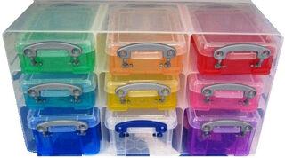 Really Useful Box Organiseur 9 boîtes, transparent coloré
