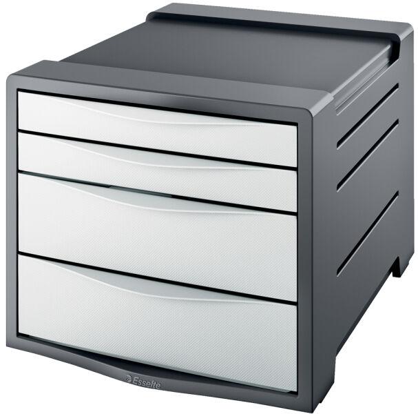 esselte bloc de rangement vivida 4 tiroirs noir achat vente esselte 80623761. Black Bedroom Furniture Sets. Home Design Ideas