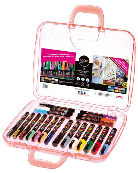 Mallette de 20 marqueurs pigment posca - Mallette a dessin professionnel ...