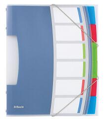 Esselte Trieur VIVIDA, A4, PP, 6 touches, multicolore