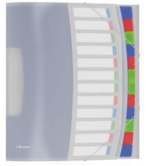 Trieur A4 en plastique - 12 compartiments