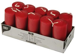 PAPSTAR Bougies cylindriques, diamètre: 40 mm, rouge
