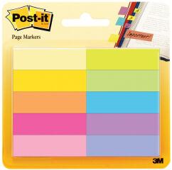 Post-it Marque-pages en papier, 12,7x44,4 mm, couleurs