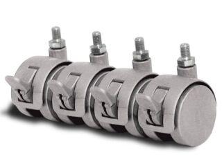 Roulettes directionnelles avec freins pour vitrine kerkmann (accessoires)