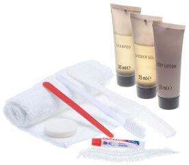 Lifemed Kit cosmétique de voyage, dans un étui en plastique