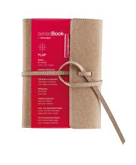 Carnet de notes SenseBook FLAP - 9 x 14 cm - Petits carreaux - 135 pages
