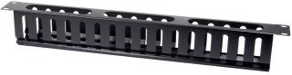 LogiLink Panneau guide-câbles 19', un côté, 1 U, noir