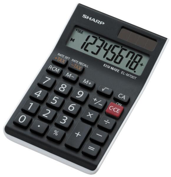sharp calculatrice de bureau el m700 twh solaire pile. Black Bedroom Furniture Sets. Home Design Ideas