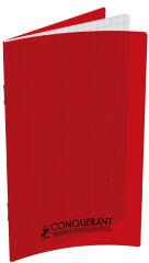 Carnet - 9 x 14 cm - Petits carreaux - 96 pages - Rouge