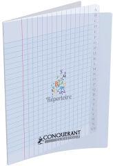 Répertoire - 17 x 22 cm - Grands carreaux - 96 pages