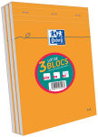 Lot de 2 Blocs-notes A4 (+1 offert) - 80 feuilles - Petits carreaux - Oxford
